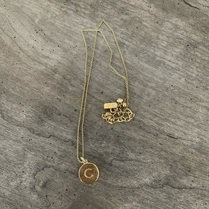 Kate Spade 12K Gold Initial Necklace